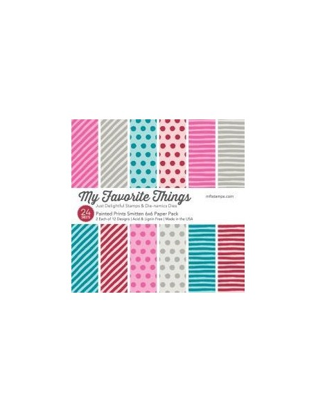 """My Favorite Things Single-Sided Paper Pad 6""""X6"""" 24 Painted Prints Smitten"""