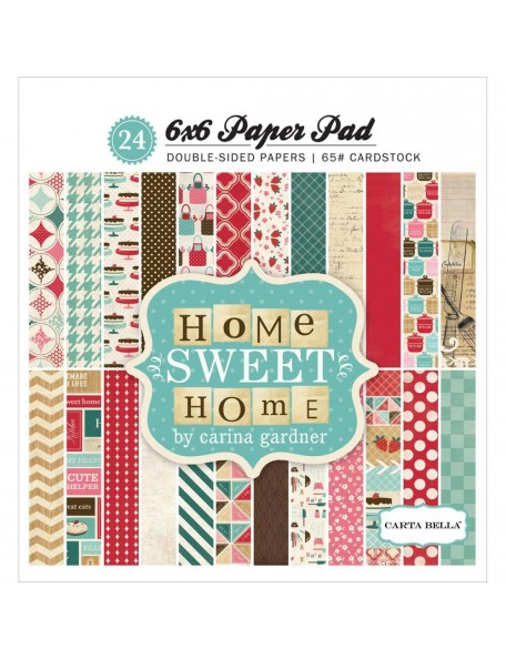 "Carta Bella Double-Sided Paper Pad 6""X6"" 24 Home Sweet Home, 12 Designs/2 Each"
