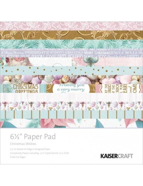 "Kaisercraft Paper Pad 6.5""X6.5"" 40, Christmas Wishes"