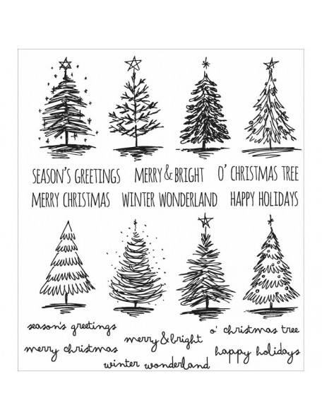 Tim Holtz Stampers Anonymous Scribbly Christmas