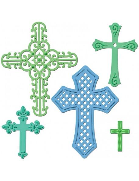 Spellbinders - Troquel para realizar cinco cruces diferentes
