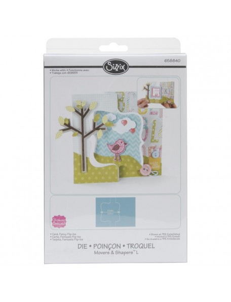 """Sizzix Movers & Shapers Large Base Die 6""""X8.75"""" Card, Fancy Flip-Its"""