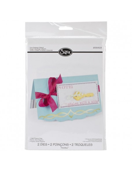 Sizzix Thinlits Dies 2 Elegant Edge Card