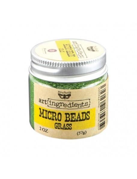 Prima Marketing Finnabair Art Ingredients Micro Beads 2oz, Grass