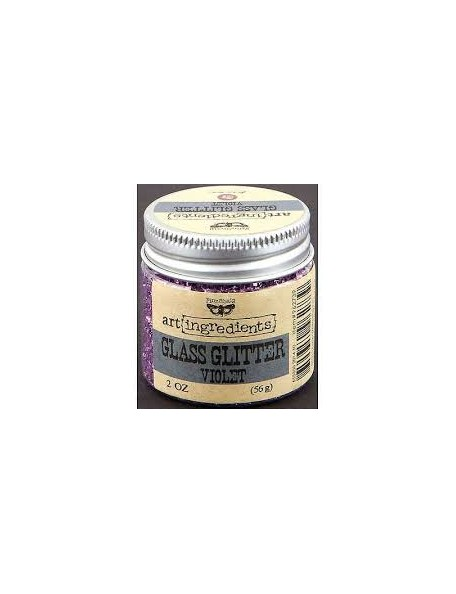Prima Marketing Finnabair Art Ingredients Glass Glitter 2oz, Violet
