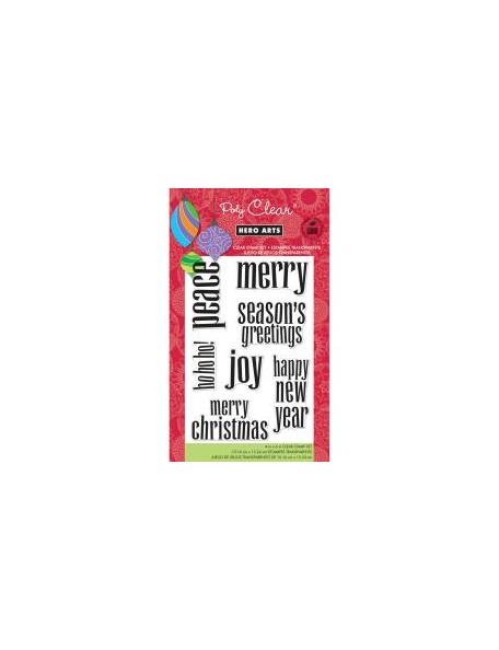"Hero Arts Clear Stamps 4""X6"", Lowercase Greetings"