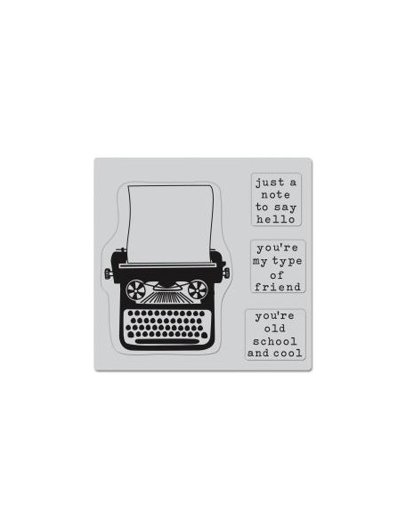 """Hero Arts Cling Stamps 4.5""""X5.75"""", My Type (4)"""