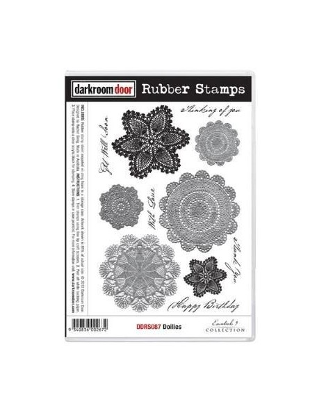 Darkroom Door Rubber Stamp Set, Doilies