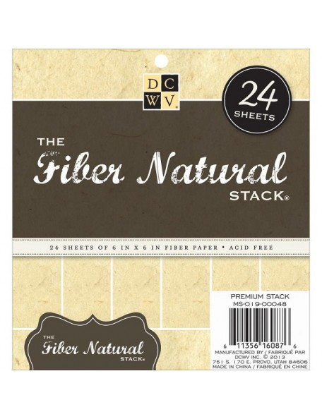 "DCWV - Fiber Natural Speciality Stack 6""x6"""