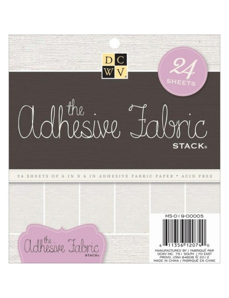"""DCWV Specialty Stack 6""""X6"""" 15, Adhesive Fabric"""