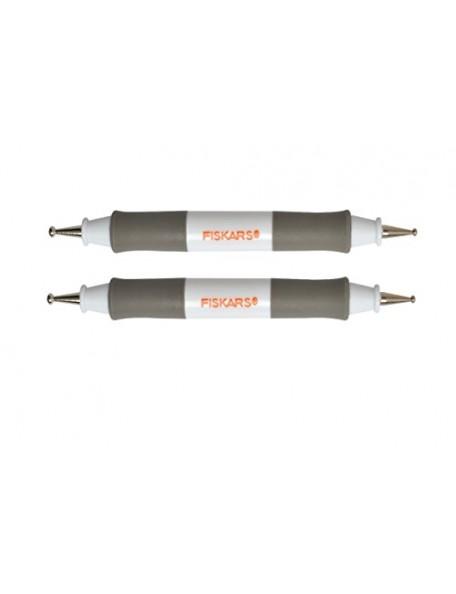 Fiskars Embossing Stylus Double Ended Regular/fine Tips Grip Pen Craft Tools