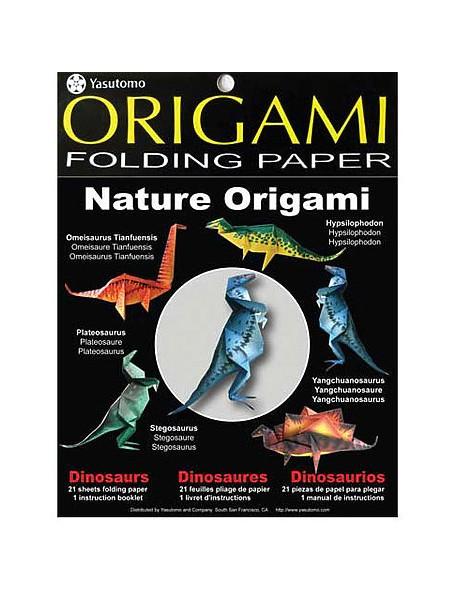 Yasutomo Origami Folding Paper Crea figuritas de dinosauiros
