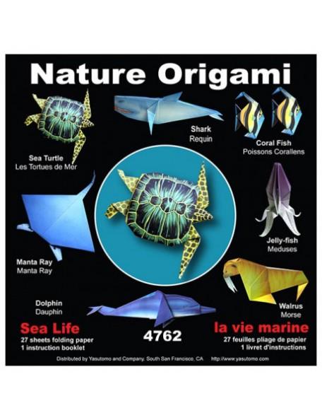 Origami Folding Paper Crear figuritas de papel de animales marinos