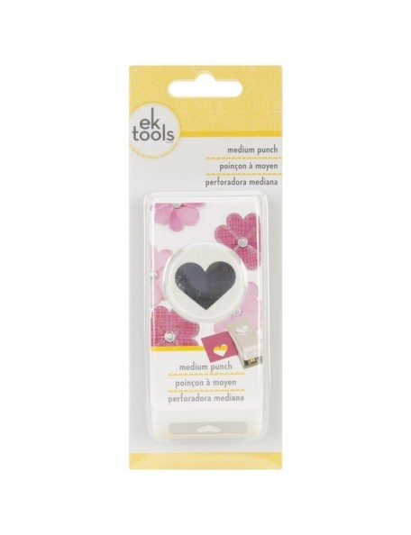 Ek Success Medium Punch-Heart, 1""