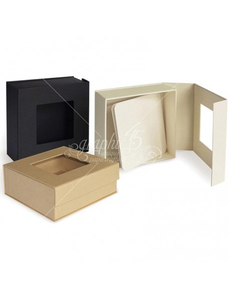 "Graphic 45 Staples Mixed Media Box 5""X5""X2""-Kraft"