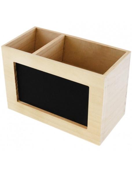 """Wood Craft """"Chalk-It_Up"""" Desk Caddy 6.31""""X4.25""""X3.2"""""""
