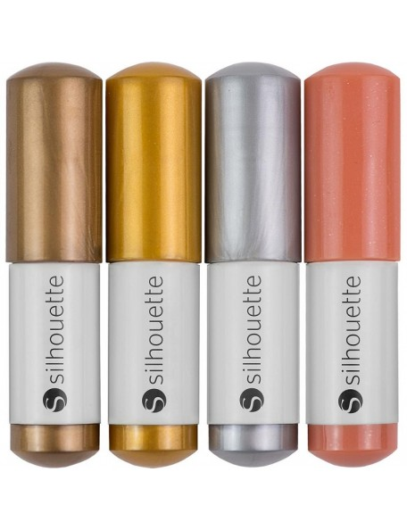 Silhouette Sketch Pens 4/Pkg Metallic Gold, Copper, Silver & Bronze
