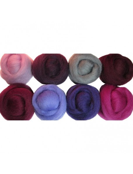 Wistyria Editions - Lilacs Wool Roving 12""