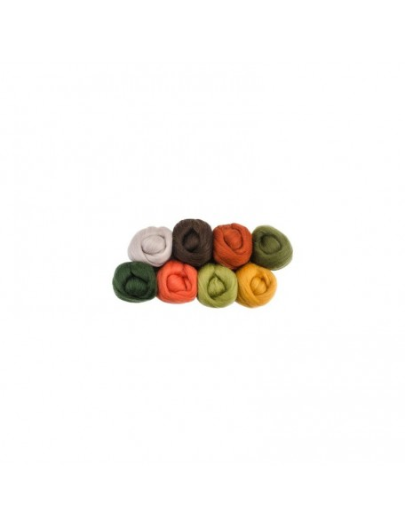 "Wistyria - Pumpkin Patch - Wool Roving 12"""