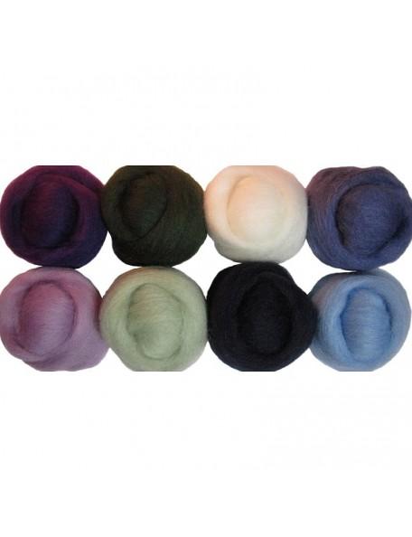 """Wistyria Editions - Hydrangeas Wool Roving 12"""""""