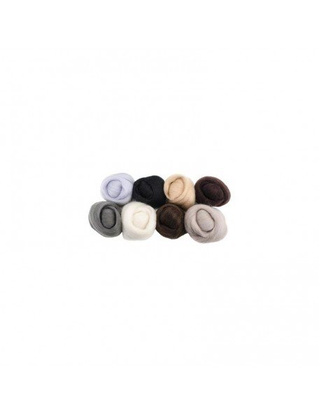 "Wistyria - Neutrals Wool Roving 12"" 0,25 oz"