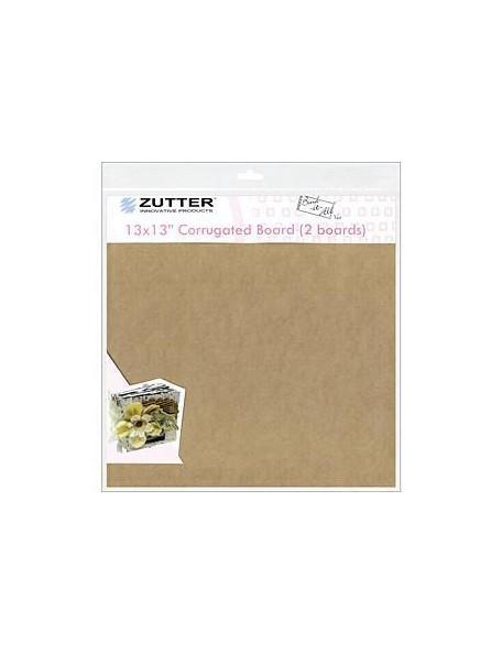 """Zutter 13x13"""" Cartón corrugado Pack de 2"""