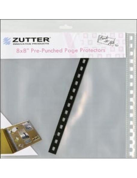 "Zutter Hojas protectoras de acetato 8x8"""
