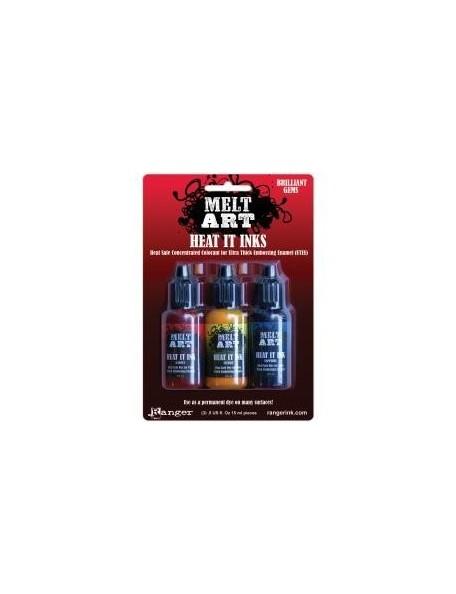 Ranger Melt Art Heat It Inks (Garnet, Citrine, Sapphire)