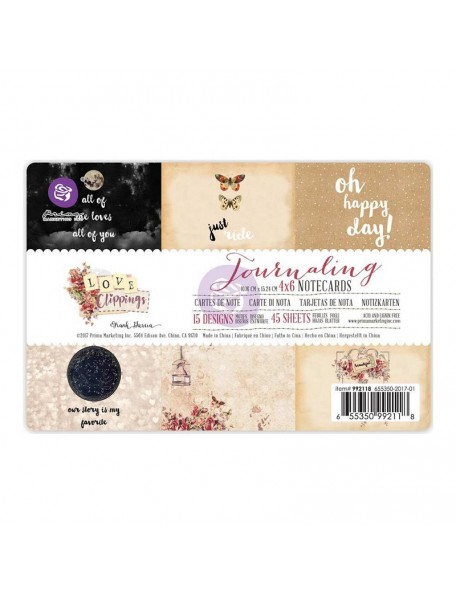 """Prima Marketing Love Clippings Journaling Notecards 4""""x6"""""""