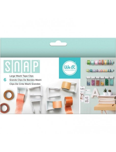 We R Memory Snap Storage Washi Tape Clips 6/Pkg Large
