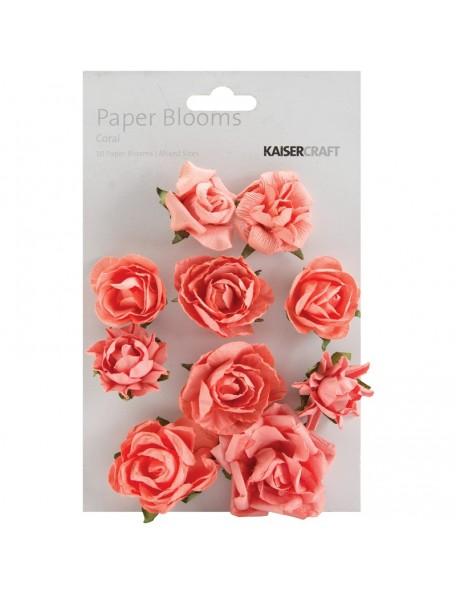 "Kaisercraft Paper Blooms 1"" - 1.5"" 10 Coral"