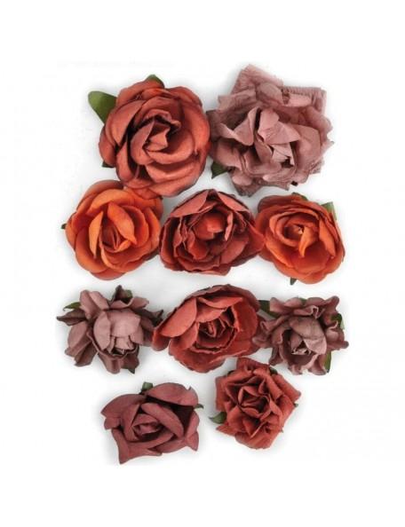 "Kaisercraft Paper Blooms 1"" - 1.5"" 10 Ruby"