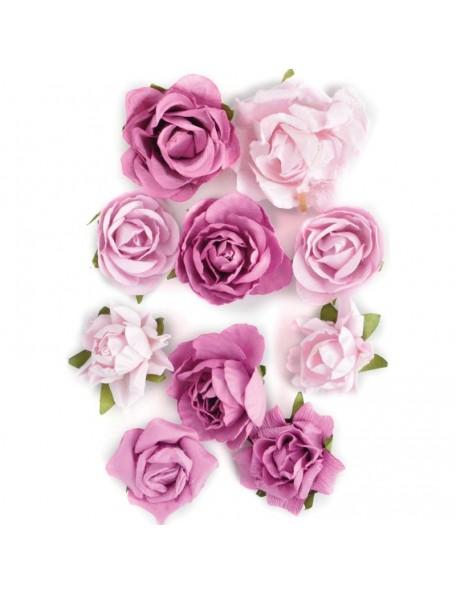"""Kaisercraft Paper Blooms 1"""" - 1.5"""" 10 Fuchsia"""