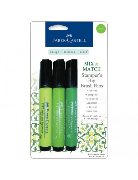 Faber Castell Stamper's Big Brush Pen 3, Verde/Green