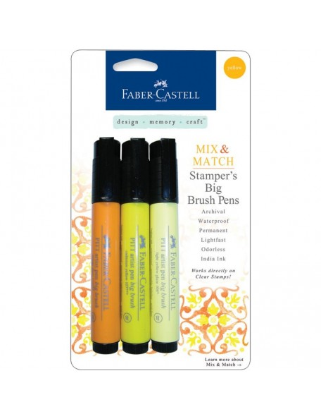 Faber Castell Stamper's Big Brush Pen 3, Amarillos/Yellow