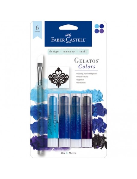 Faber-Castell Mix & Match Gelatos & Stamp Kit Blue