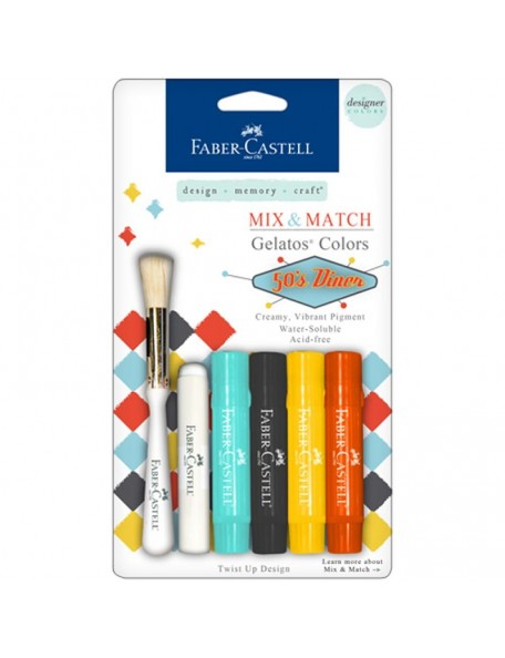 Faber-Castell Mix & Match Gelatos & Stamp Kit 50's Diner