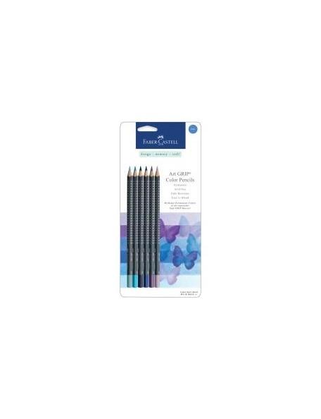 Faber-Castell Mix & Match Art GRIP Color Pencils 6/Pkg Blue