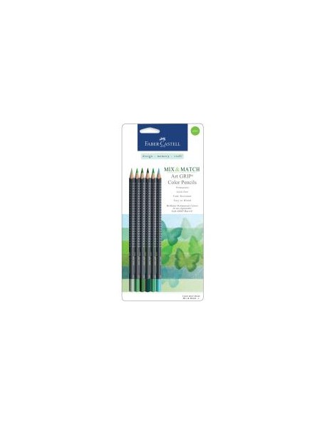 Faber-Castell Mix & Match Art GRIP Color Pencils 6/Pkg Green