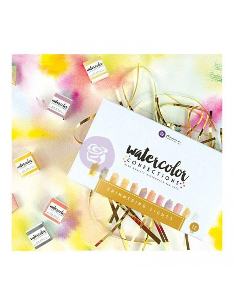 Prima Marketing Shimmering Lights Watercolor Confections Watercolor Pans 12