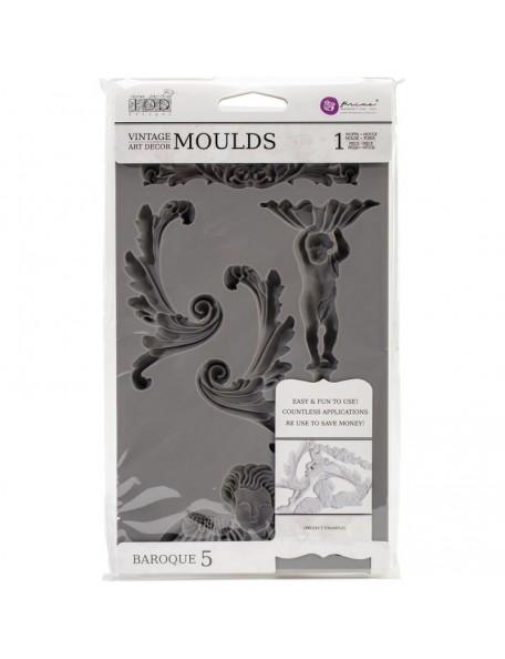 Prima Marketing Iron Orchid Designs Vintage Art Decor Mould Baroque no. 5