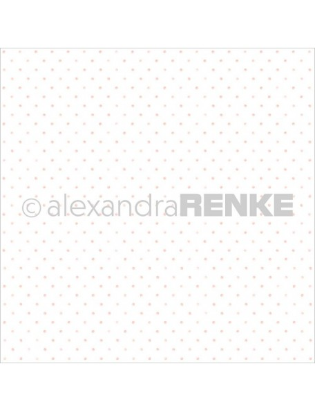 "Alexandra Renke Basic Design Paper 12""X12"", Light Rose Little Dots"
