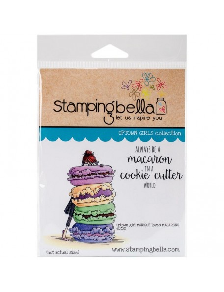 "Stamping Bella Cling Stamp 6.5""X4.5"", Monique Loves Macaroons"