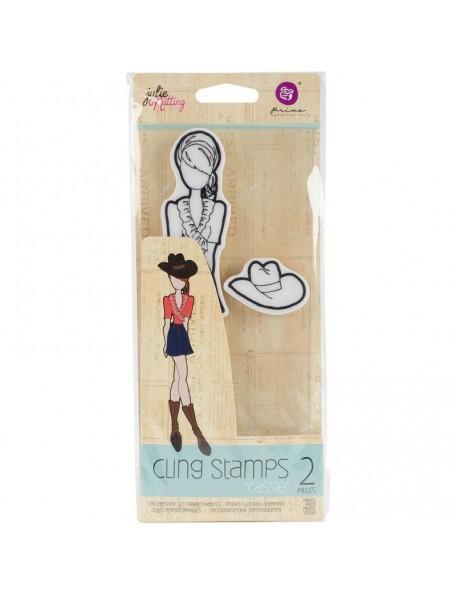 Prima Marketing Julie Nutting Mixed Media Cling Rubber Stamps, Cassie
