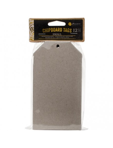"Prima Marketing Chipboard Tags 12, 3.4""X6.25"""