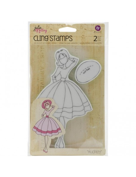 "Prima Marketing Julie Nutting Mixed Media Cling Rubber Stamps, Audrey 3.5""X8.75"""