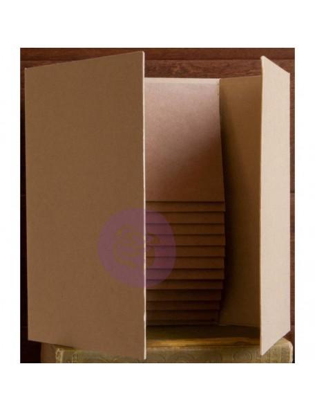 "Prima Marketing Frank Garcia Memory Hardware Chipboard Album -Magnetic Dossier, 6""X9"""