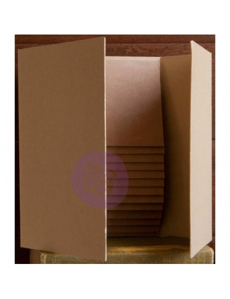 "Prima Memory Hardware Chipboard Album, Magnetic Dossier, 6""X9"""