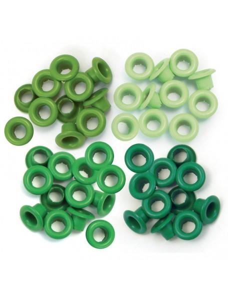 We R Memory Keepers Eyelets Standard ojales verdes 15 de cada color, cantidad 60