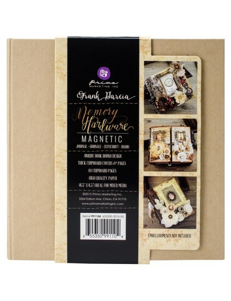 "Prima Memory Hardware Chipboard Album 6.5""X6.25"", Kraft Magnetic W/8 Pages"